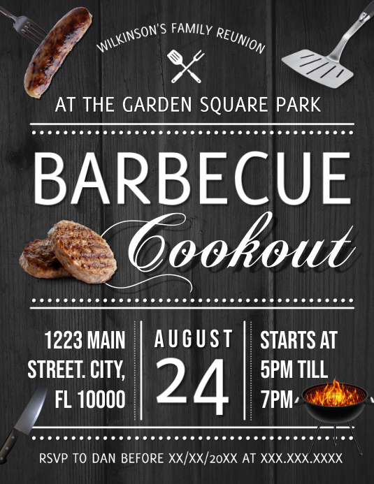 BARBEQUE Flyer (Letter pang-US) template