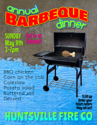 Barbeque Fundraiser flyer