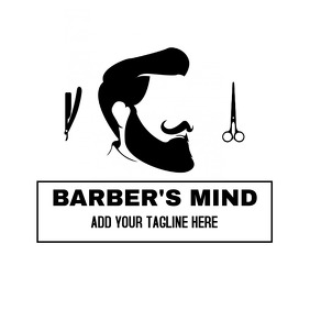 Barber's mind barber shop logo