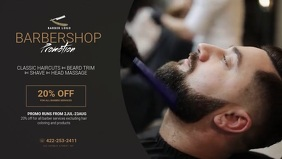 Barber promotion ad design template