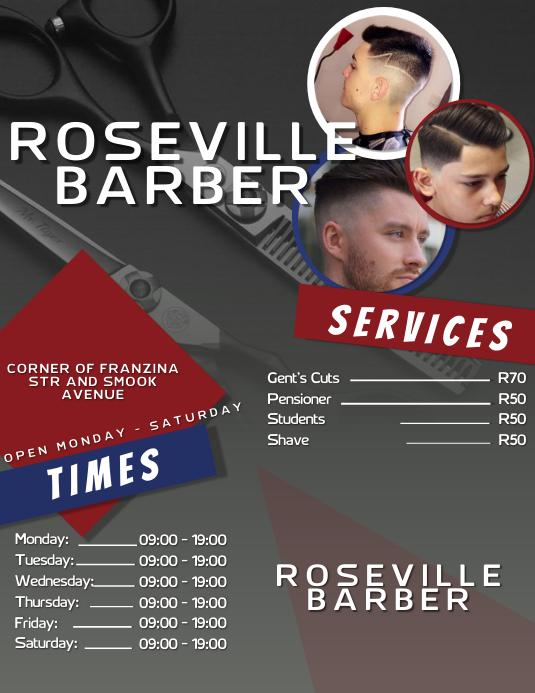 Barber Shop Ad Folder (US Letter) template