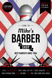 Barber Shop Ad Poster