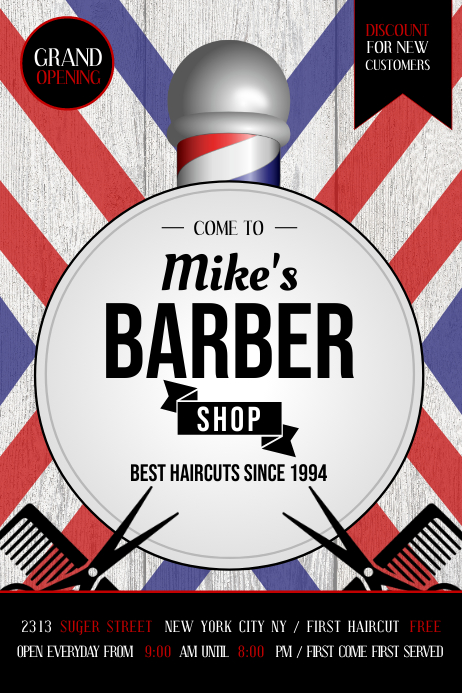 Copy of Barber Shop Ad Poster | PosterMyWall