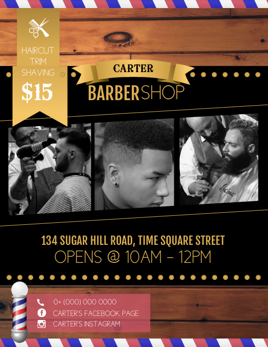 Barber Shop Advert Flyer