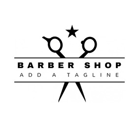 Barber Shop Brand Logo Template