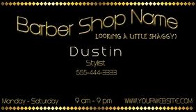 Barber Shop Business Card Visitekaartje template