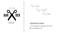 Barber Shop Business Card Visitkort template