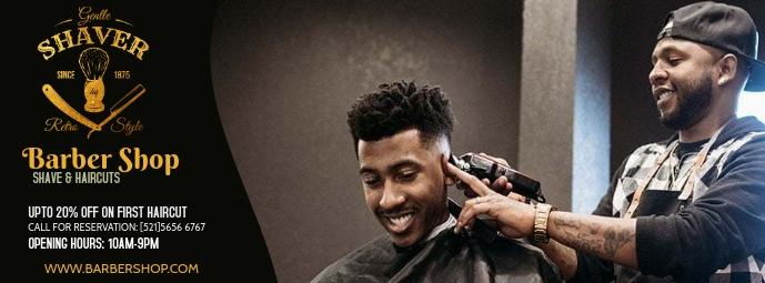 Barber Shop Facebook Omslag Foto template