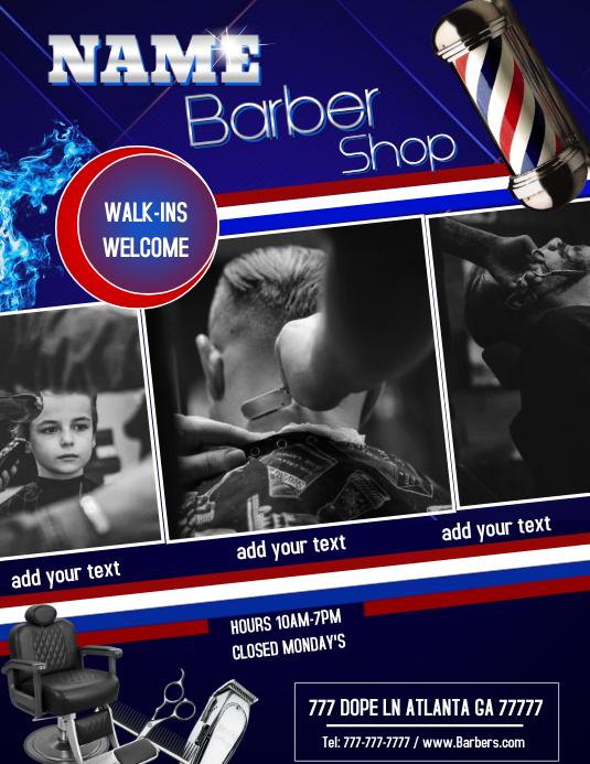 Barber Shop Iflaya (Incwadi ye-US) template