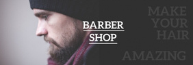 Barber Shop Banner do LinkedIn template