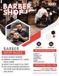 Barber Shop Enter if Healthy Flyer template