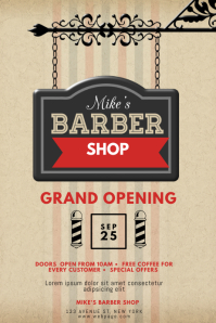 Barber Shop Event Flyer Template