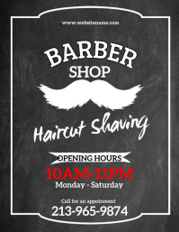 Barber Shop Flyer (Front Cover) template