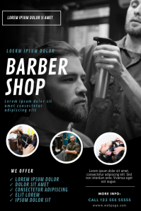 Barber Shop Flyer Design Template