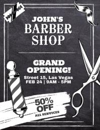 Barber Shop Grand Opening Flyer Poster