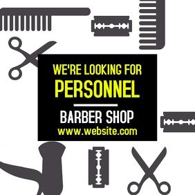 Barber shop hiring instagram post design temp
