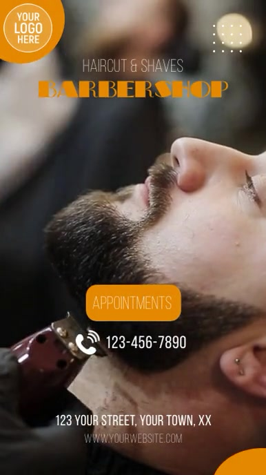 Barber Shop Instagram Video Ad template