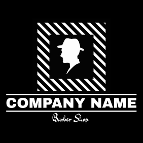Barber shop logo black and white