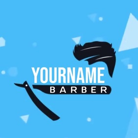 BARBER SHOP LOGO SOCIAL MEDIA TEMPLATE Kwadrat (1:1)