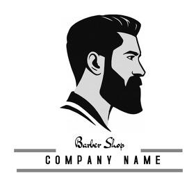 barber shop logo template Logotipo