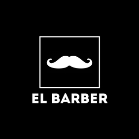 Barber shop minimal logo