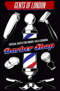 Barber Shop Poster Template