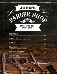 Barber Shop Price Flyer Poster