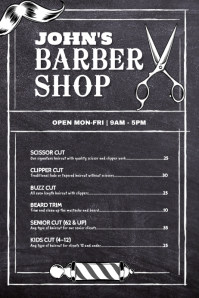 Barber Shop Price Flyer Poster