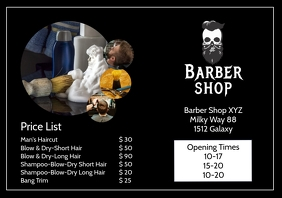 Barber Shop Price List Flyer Hair Salon Ad