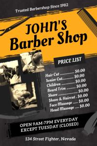Barber Shop Price List Poster