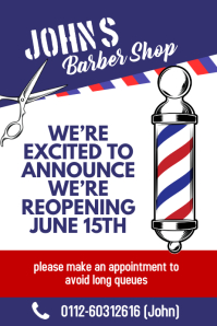 Barber Shop Re-opening Announcement