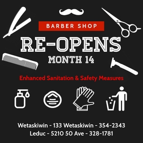 Barber Shop Re-Opens Template