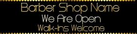 Barber Shop Reopening Banner 2'x8' template