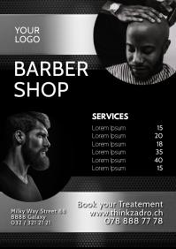 Barber Shop Store Hair salon man ad flyer A4 template