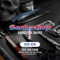 Barber Shop Video Ad Template Square (1:1)
