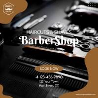 Barber Shop Video Ad Template Persegi (1:1)