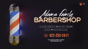 Barber Video Ad Template Digitale Vertoning (16:9)