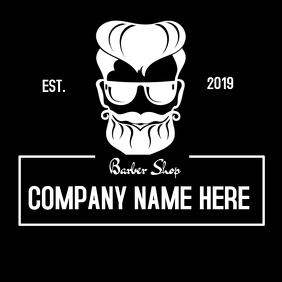 Barbershop logo , black and white