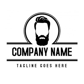 barbershop logo black and white classic style
