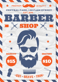 BARBERSHOP POSTER A4 template