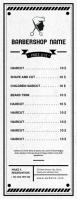 barbershop pricing list Half Page Letter template