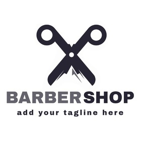 barbershop scissors logo