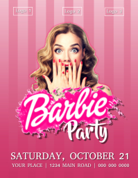 Barbie Party Flyer