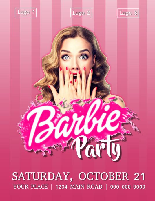 Barbie Party Flyer