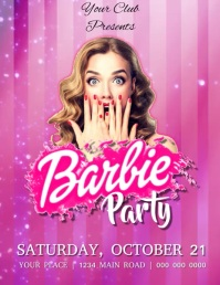 Barbie Party Flyer video