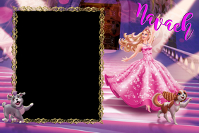 Barbie Party Prop Frame