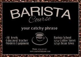Barista coffee workshop course Template