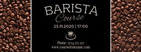 Barista coffee workshop course Template insta Facebook Cover Photo