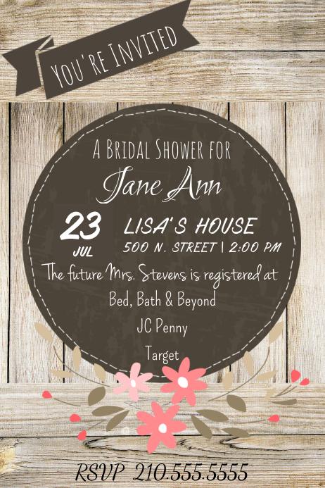 Barn Bridal Shower Invite