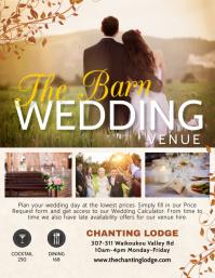Barn wedding venue hire flyer template